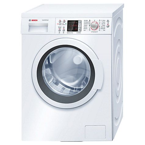 Buy Bosch WAQ284S0GB Freestanding Washing Machine, 8kg Load, A+++ Energy Rating, 1400rpm Spin, White Online at johnlewis.com