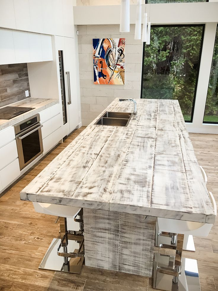 51 best images about lot de cuisine on pinterest industrial farmhouse kit - Cuisine bois blanchi ...