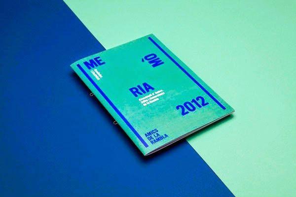 Contoh Desain Gambar Buku Laporan Tahunan - Memòria 2012 Amics de la Rambla oleh Mayra Monobe
