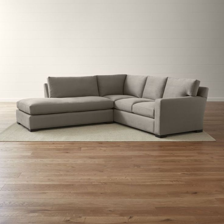 Bring Axis home and watch life revolve around it.  Upholstered in a high-performance fabric that's pet, kid, and family friendly, this two-piece sectional offers exceptional durability for family rooms and casual living rooms.