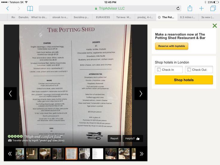 Potting she'd menu
