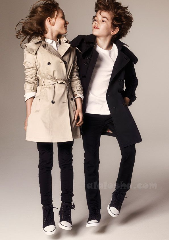 ALALOSHA: VOGUE ENFANTS: The new AW14 kids' collection from Burberry are the perfect mini-me fashion for your children