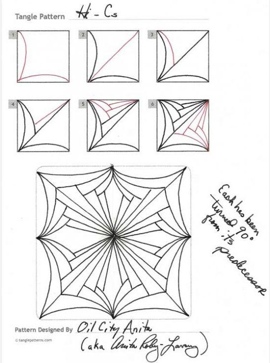 How to draw HI-Cs BY Oil City Anita « TanglePatterns.com