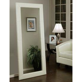 Pacific Loft Logan 30-In X 70-In White Rectangular Framed Contemporary Floor Mirror Atg7925095