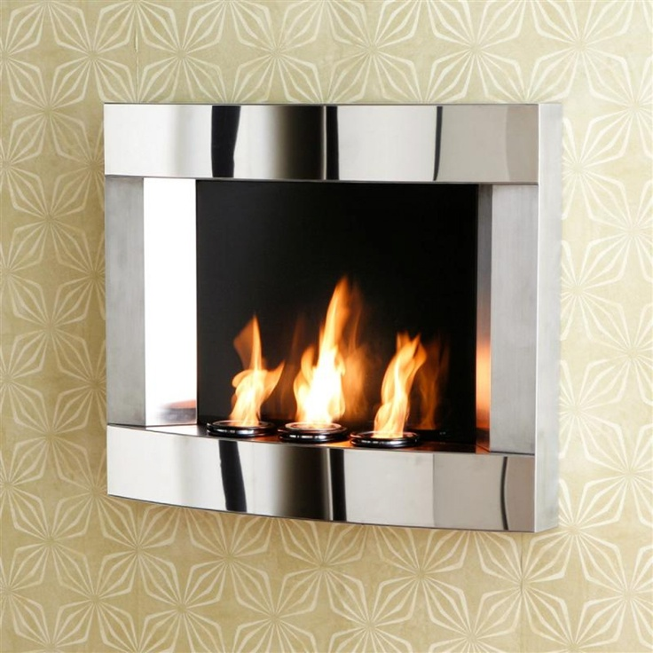 Fireplace Design wall mount fireplace : 24 best Wall-mounted Fireplaces images on Pinterest