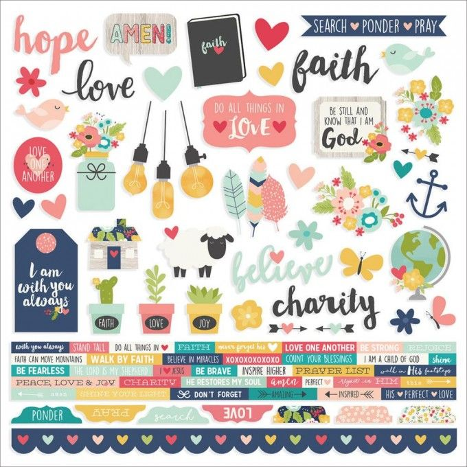 Simple Stories Faith - Combo Cardstock Stickers