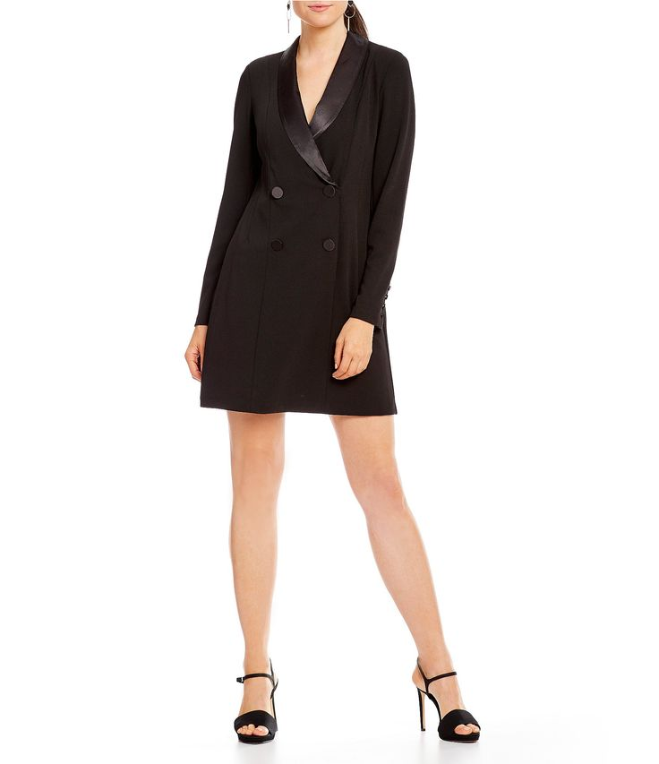 Donna Morgan Tuxedo Mini Dress #Dillards
