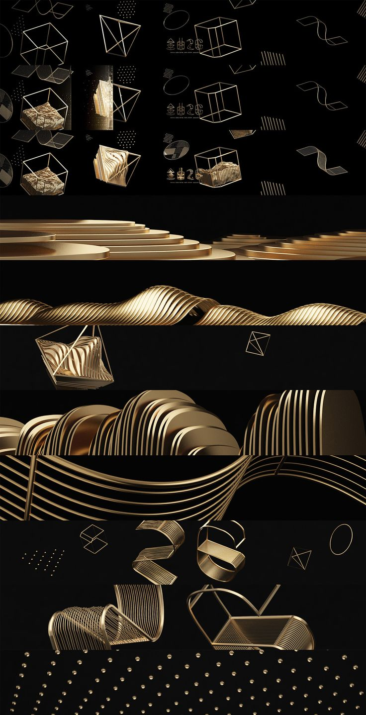 Style frames - motion graphic design Golden Melody Award 2015 Main Visual on Behance
