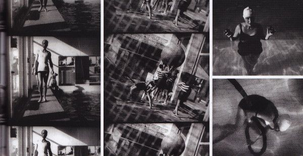 In 1929 Man Ray recorded life at Villa Noailles in a Futurist film titled Les Mystères du Château de Dé. In the film still at right is Marie-Laure in the swimming pool.