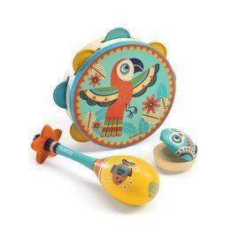 DJECO Animambo Music Set of 3 Instruments #music #tambourine #maraca #djeco