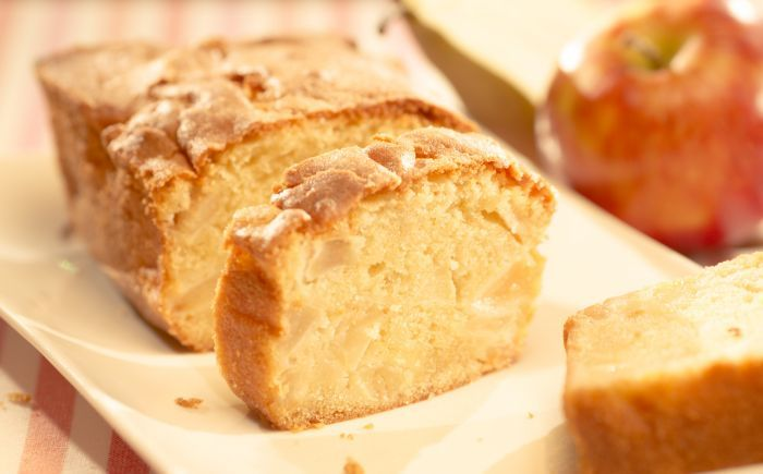 Cake met appel en peer