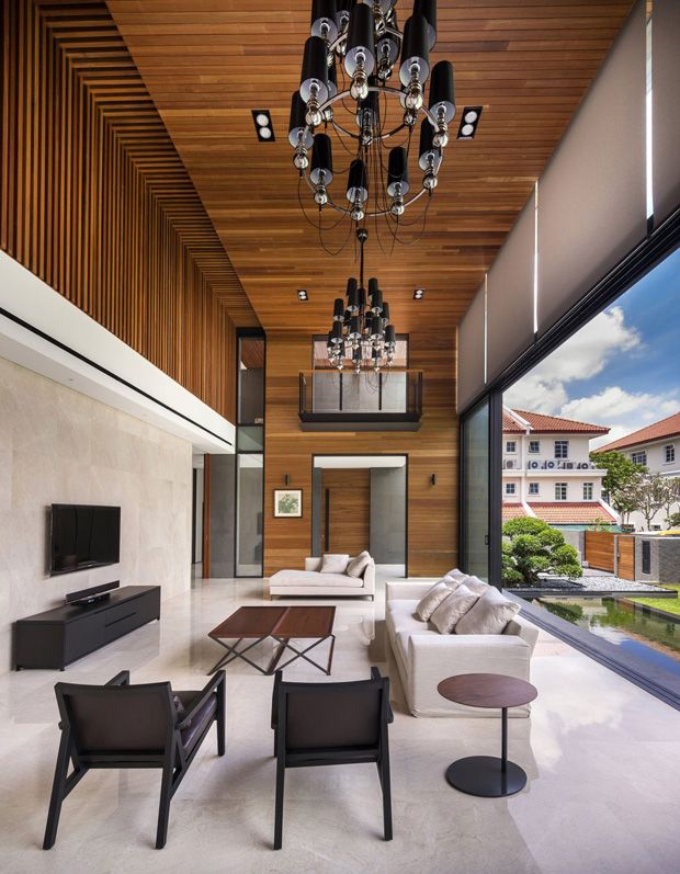 modern house interiors%0A Interior aspect of the Mimosa Road Residence in Singapore by Park    Associates Pte Ltd