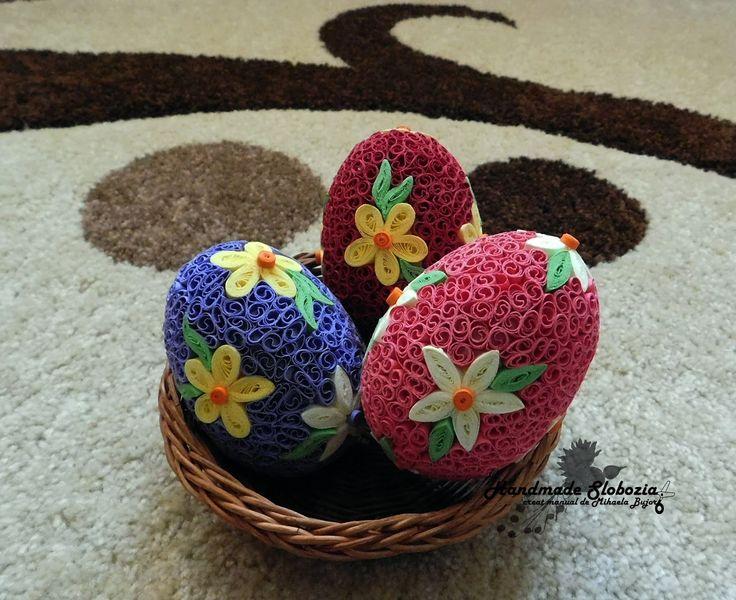 Mihaela Bujor: Oua de Paste, decorate prin metoda Quilling (Quilling Easter Eggs)