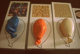 Sensory balloons with matching cards.   Gloucestershire Resource Centre http://www.grcltd.org/scrapstore/