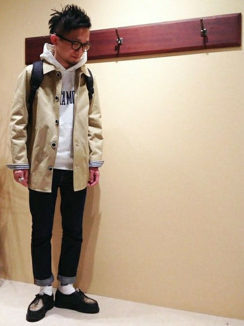 ikka 博多店|ikka HAKATA STAFFさんのステンカラーコート「フードステンカラーハーフコート(ikka|イッカ)」を使ったコーディネート