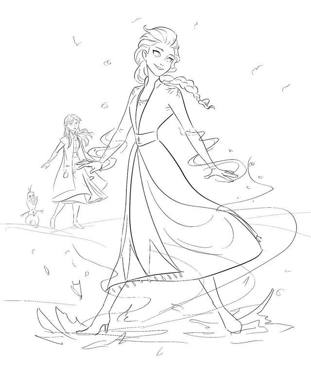 Another Frozen 2 Sketch Art By Yourbelovedneighbourhoodfable On Instagram Frozen2 Frozen Drawings Princess Coloring Pages Frozen Art