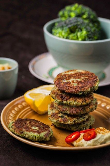 Hemsley & Hemsley: Broccoli Fritters & Spicy Avocado Dip (Vogue.com UK)