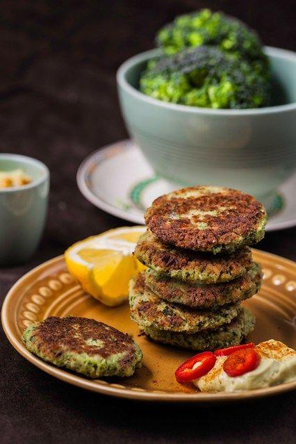 Hemsley & Hemsley: Broccoli Fritters & Spicy Avocado Dip (Vogue.com UK)