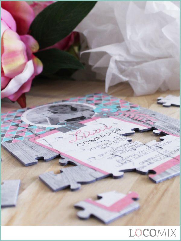 Gebruik deze Puzzel als uitnodiging voor jouw communie. Deze Communie Uitnodiging Puzzel is uniek, speels en origineel! Kies een leuk ontwerp en personaliseer de puzzel voor een compleet totaalplaatje.