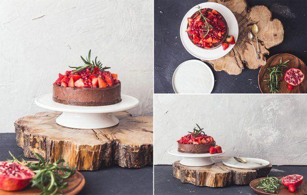 RAW dort čokoládový s banány a ovocem , Foto: Kuchařinka.cz
