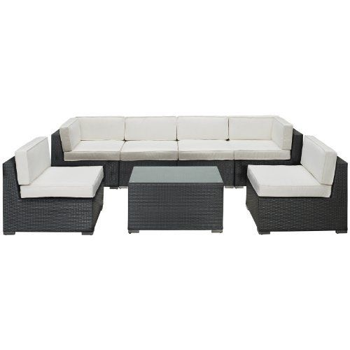East End Imports Aero Outdoor Rattan 7 Piece Set in Espresso with White Cushions by East End Imports. $2761.14. Introduce aerodynamic comfort with the Aero Outdoor