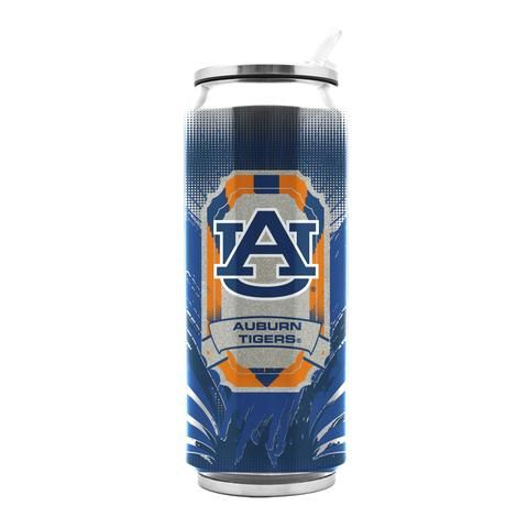 Auburn Tigers Stainless Steel Thermo Can - 16.9 ounces #AuburnTigers