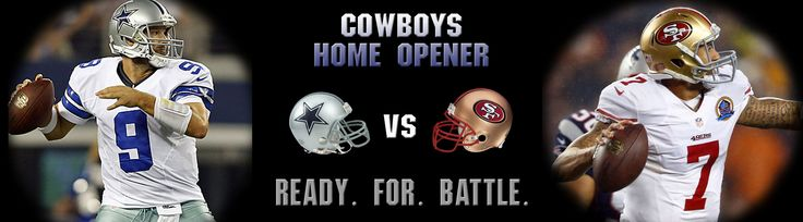 NFL Football kicks off THIS week! Don't miss your chance to see the Dallas Cowboys Home Opener when they take on the San Francisco 49ers, Sunday, September 7th, 2014, at 1:25pm! We've got exclusive VIP packages, hassle-free gameday accommodations, and the Fandeavor Gameday Experts who can take care of everything for you!
