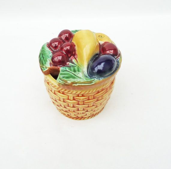 Ceramic Basket of Fruit Look Preserve Pot by thesecretcupboard, £8.00