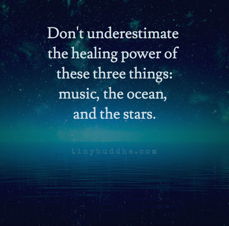 Don't underestimate the healing power of these three thing: Music ~ the Ocean ~ and the Stars ⊰❁⊱