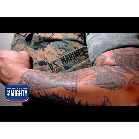 Break out the rulers, the Marine Corps' new tattoo policy is here  #MarineCorps, #Out, #Tattoo