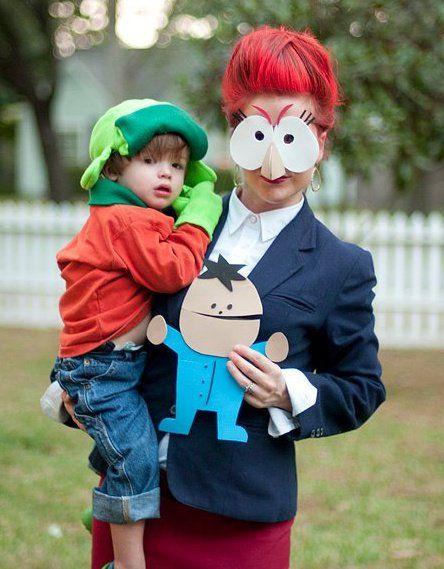 diy halloween family costume idea south park kyle and sheila broflofski - Southpark Halloween Costumes