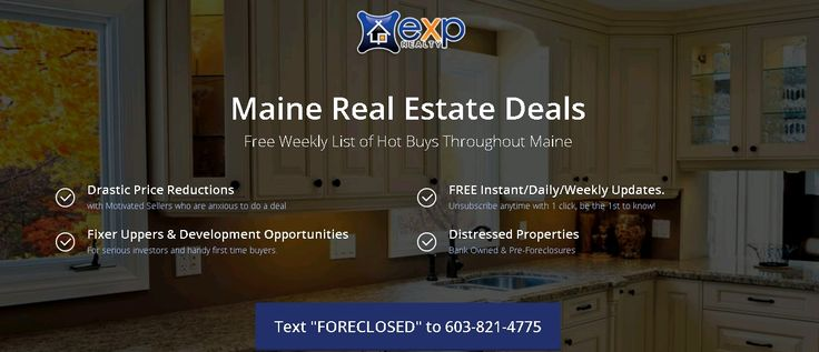 Maine Real Estate Deals - Free Weekly List of Foreclosed and Price Reduced Homes in Maine  - http://frankprovencal.me.exprealty.com/ask/index.php?t=4&hash=f75c02cbecaccce4b750b35a11333747&back=11&code=FORECLOSED