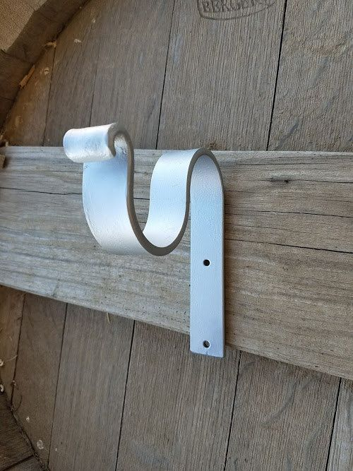 36 Best Wrought Iron Drapery Rod Brackets Images On