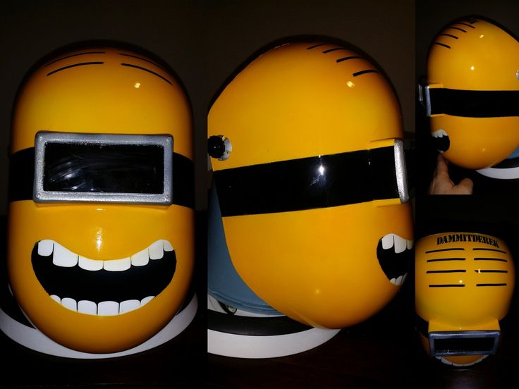 Minion welding helmet finished yesterday.  Shipping to customer.