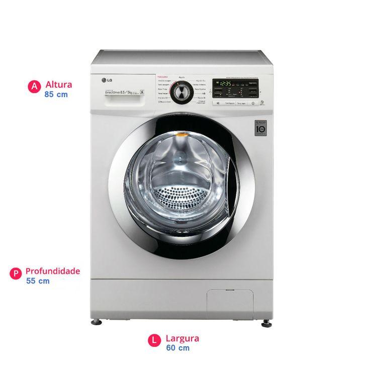 Lava e Seca LG Mega Touch 8,5Kg Branca 110V | Carrefour