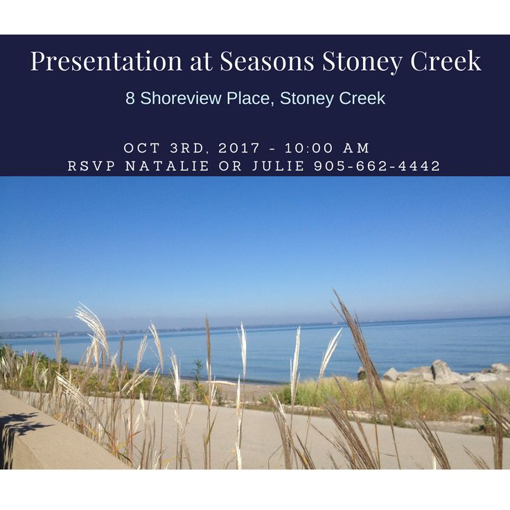 The Ladies of Royal Lepage are Presenting at Seasons Stoney Creek, Diana Gallacher, Lisa Robitaille, Margaret Reid and Kathy Della-Nebbia, Sales Representatives. Royal LePage State Realty, Brokerage.