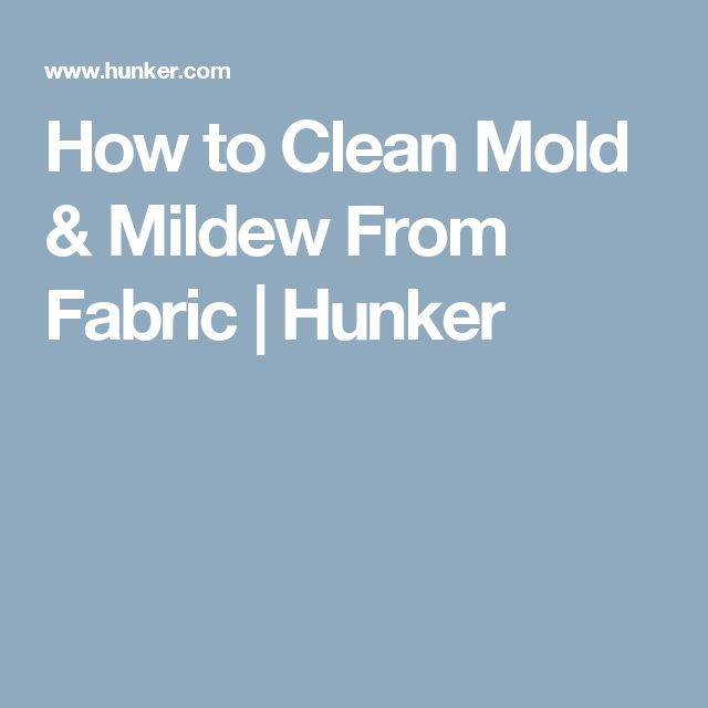 how to clean mildew off fabric