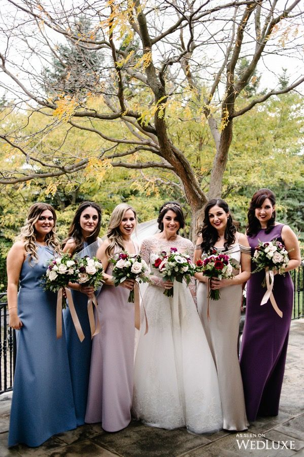 fall bridal party pictures%0A Look how beautiful these bridesmaids are    WedLuxe  u     Rome Is Calling u      Ancient Rome