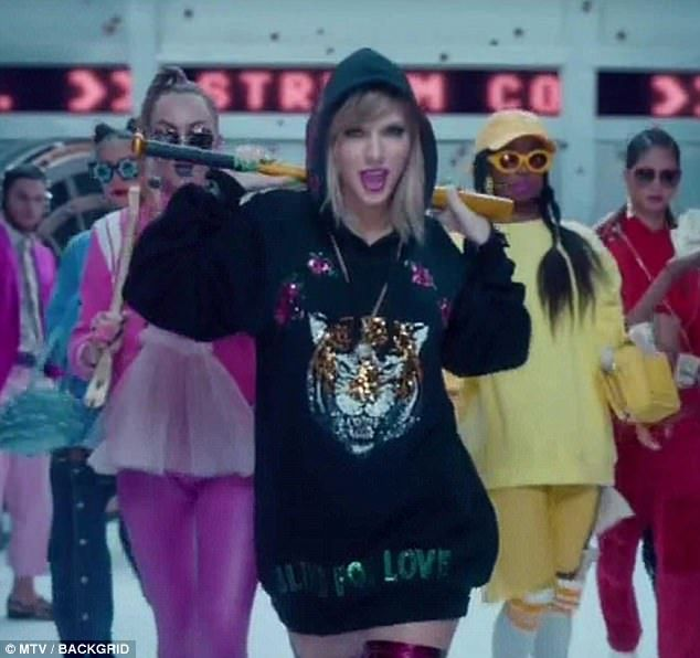 Record breaker: Taylor Swift's  video for her new single, Look What You Made Me Do, smashed  the YouTube record for most views with more than 35.5m in less than 24 hours