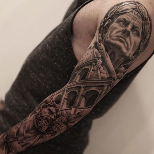 Neoclassical full sleeve by Jun Cha