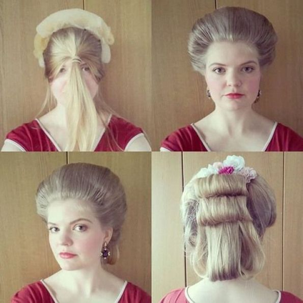 We Are Going Try And Shoot Something Today This Is Probably The Fastest 18th Century Hairdo I Ve Ever Done I Historical Hairstyles Hairdo 18th Century Dress