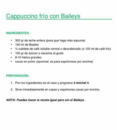 Cappuccino fred amb Baileys