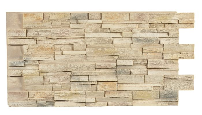 Stacked Stone Dry Stack - Rose Frost
