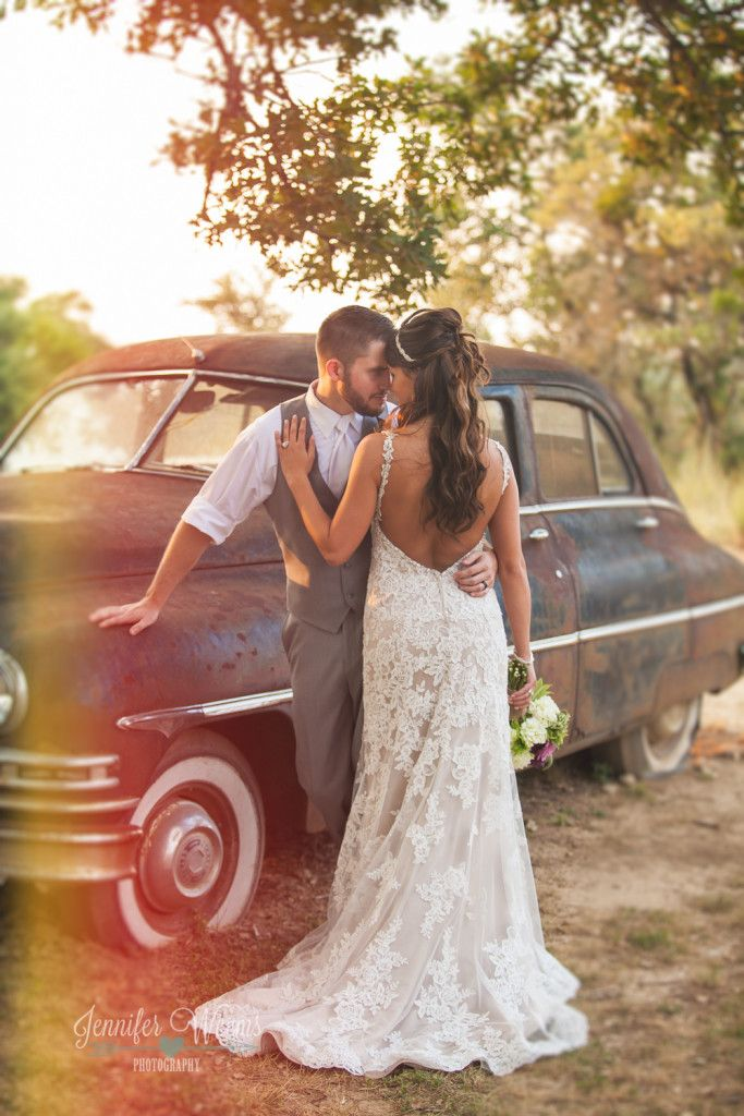 Vista West Ranch Wedding, Vista West Ranch Photographer, Austin Wedding Photographer, Hill Country Wedding, purple, rustic, wedding dress, bride, groom, texas, Jennifer Weems Photography, wedding party, bridesmaid, groomsmen, old car