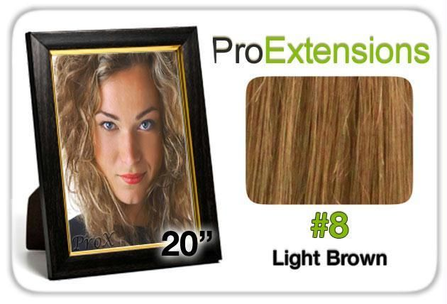 Pro Lace 20″, #8 Light Brown
