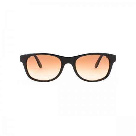 Caribou sunglasses with a classic black frame. Standard brown lenses.