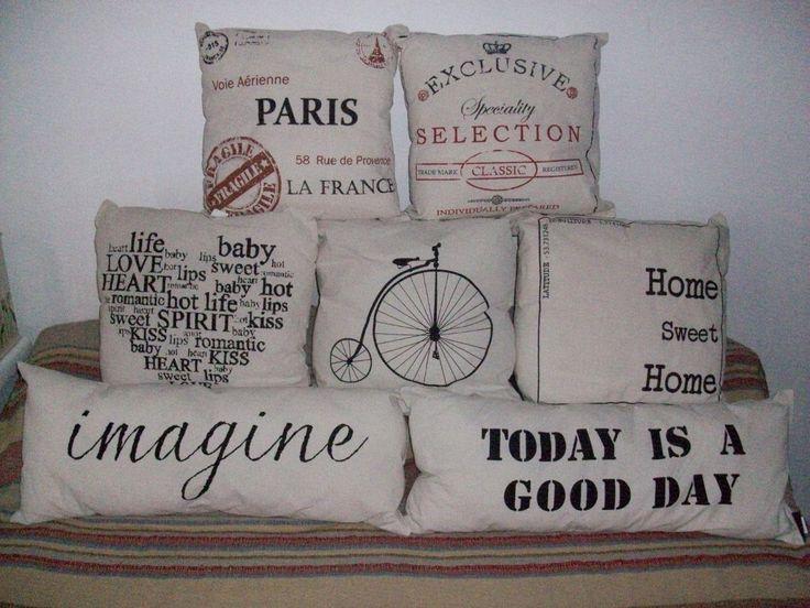 almohadones con diseño vintage