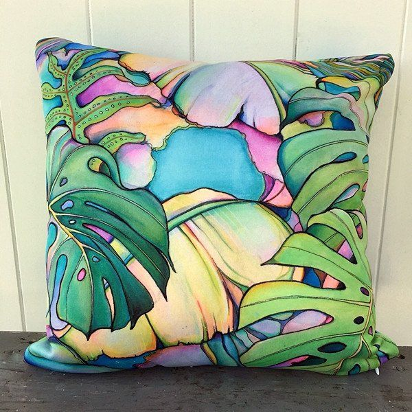 Island Oasis Pillow by Colleen Wilcox