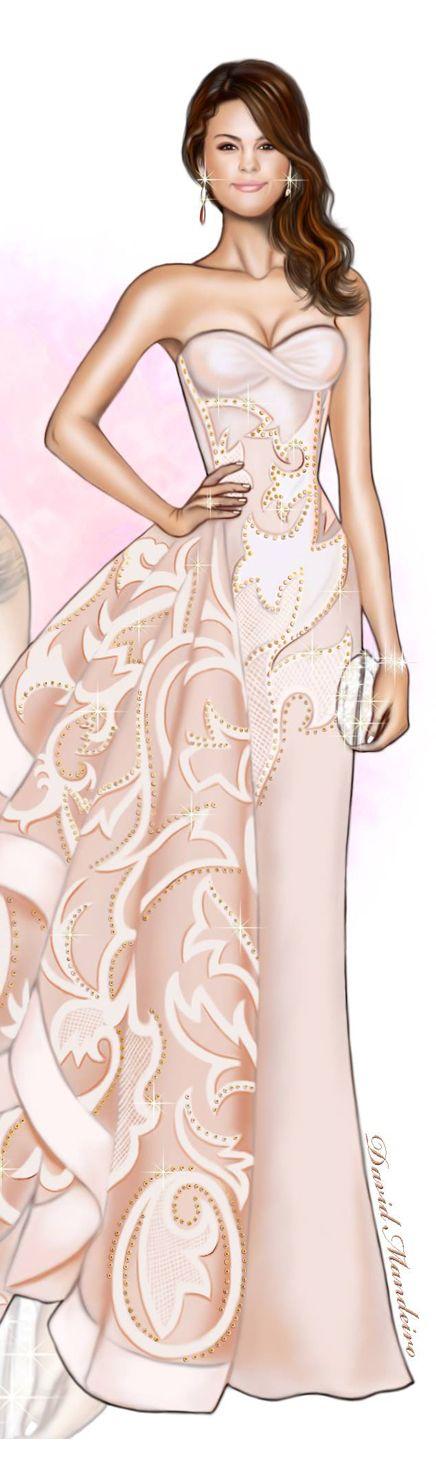 The beautiful Selena Gomez in Versace#digitaldrawing by @David Mandeiro Illustrations Wacom#digitaldrawing #SelenaGomez #Versace