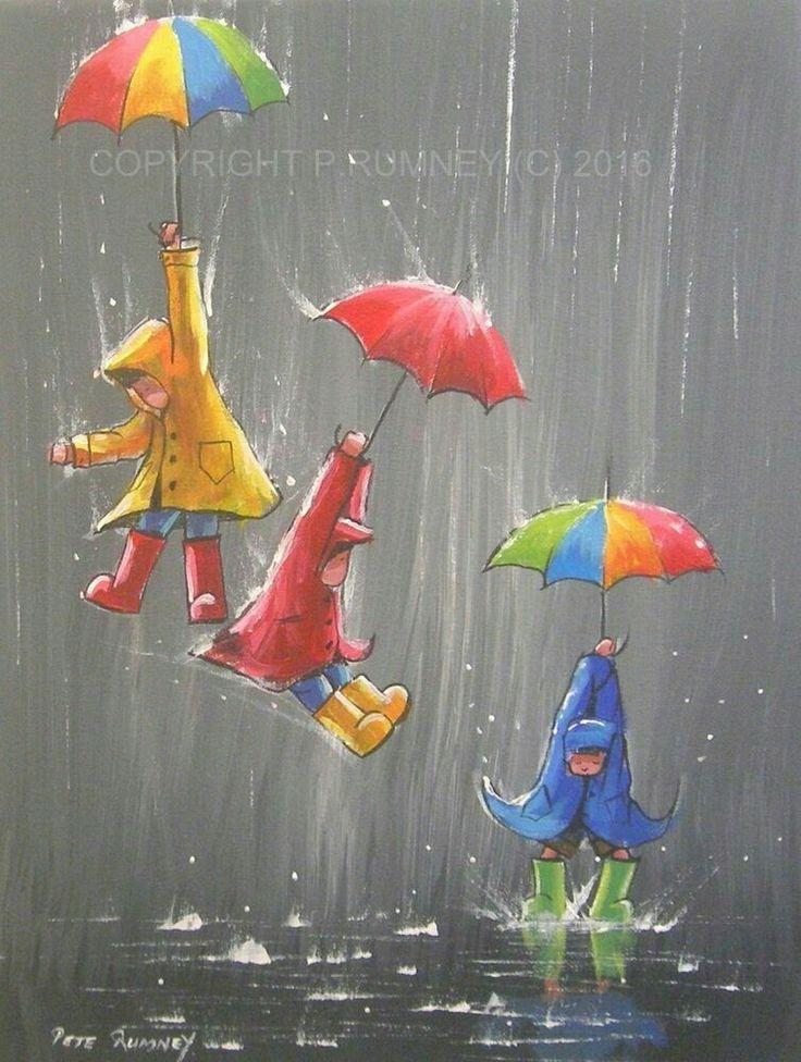 Открытки открытки, картинки с зонтиками нарисованные